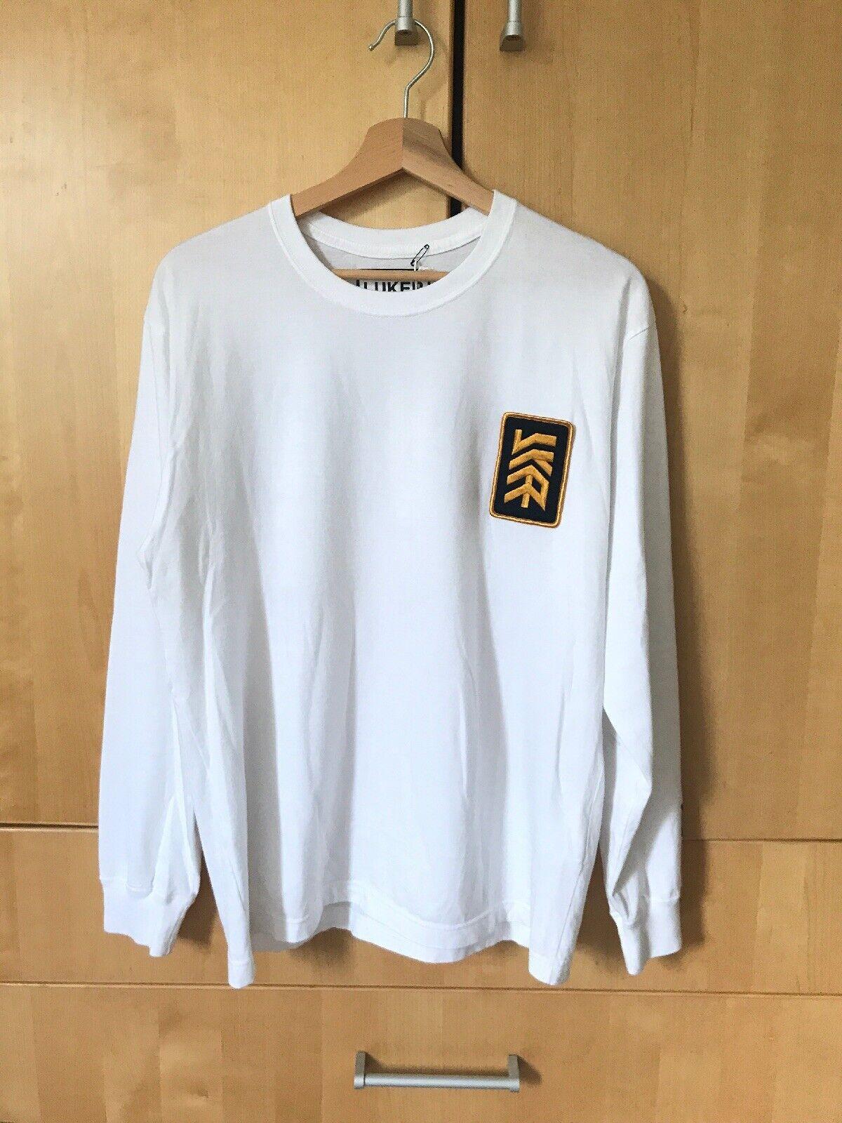 Luker por barrio Japón blancoa De Mangas Largas Camiseta Top   preferente