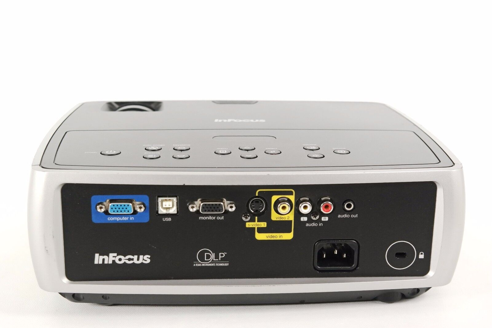 infocus work big in24 dlp projector ebay rh ebay com Infocus Projector W240 Infocus Projectors Amazon