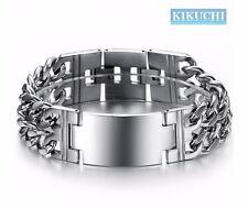 Edelstahl Armband Herren Armkette Herr Männer Panzerkette zweifach 21cm/19,5cm