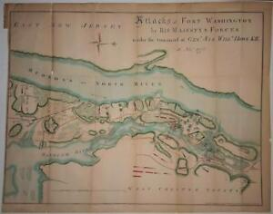 Fort Washington Map.Map Attacks Of Fort Washington By His Majesty S Forces 1861