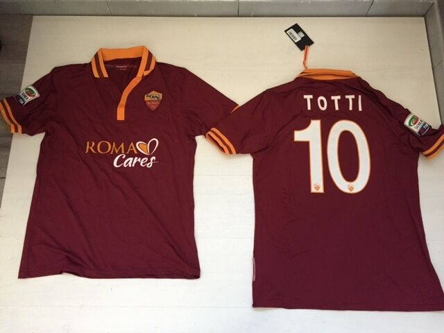 2668 AS ROMA CARES TOTTI 10 10 10 T-SHIRT 2013 JERSEY AUTHENTISCH MATCH TRIKOT 0ac81e