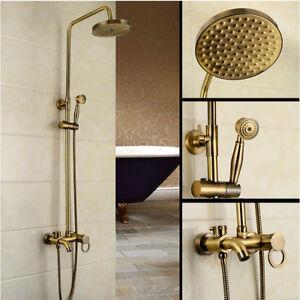 Antike bronze badezimmer regendusche wasserhahn set mischbatterie hand spray ebay - Antike badezimmer ...