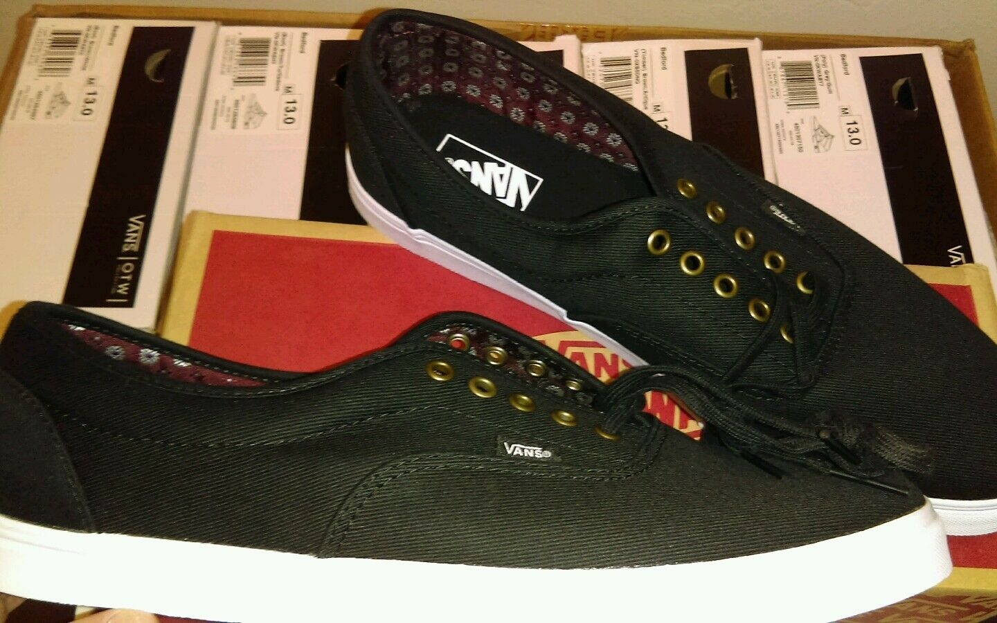Vans LPE (GEO Suiting) Black Twill.. Size 13