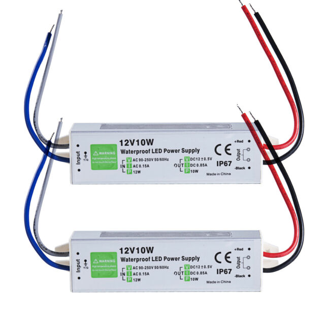 2x waterproof led driver 10w watt 12v volt ip67 power supplyfrequently bought together 2x waterproof led driver 10w watt 12v volt ip67 power supply transformer outdoor