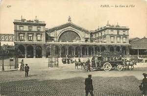 France Paris La Gare De L Est Railway Station 1910 S Postcard Ebay
