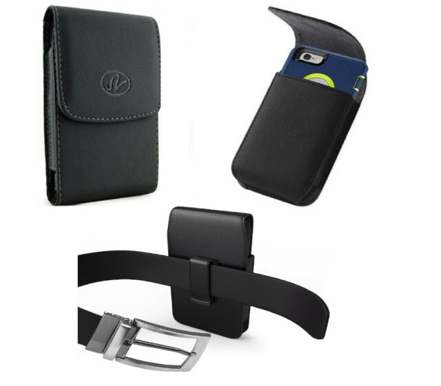 san francisco fff5c cda86 Vertical Leather Swivel Belt Clip Holster To Fit A Hard Case On iPhone  Samsung