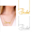 thumbnail 2 - Personalized FINE Sterling Silver 14K Gold ANY Name Plate Necklace + Free Chain