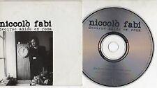NICCOLO FABI canta in SPAGNOLO CD single 1 tr. PROMO 2001 DECIRSE ADIOS EN ROMA