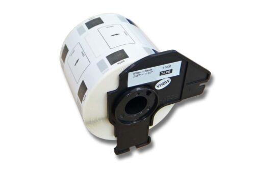QL-710 800 DRUCKER ETIKETTEN 62x29mm WASSERFEST für BROTHER P-touch QL-700