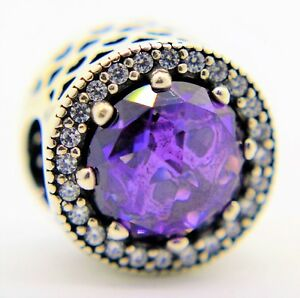 d013885b8 Image is loading PANDORA-Genuine-Royal-Purple-Radiant-Hearts-charm-Silver-