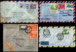 South-America1930-1960-039-s-4-Airmail-Covers-Peru-Bolivia-Brazil