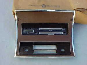 1970-1971-NOS-MoPar-Woodgrain-DASH-BEZEL-Radio-Heater-Dodge-Dart-Swinger