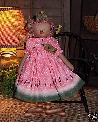 Primitive Raggedy Ann Grungy Annie Doll Paper Pattern #597