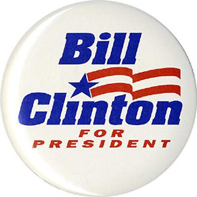 1992 Bill Clinton Primary Campaign Logo Button (3814)