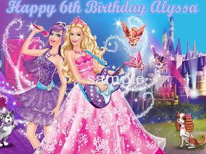 PRINCESS   the POPSTAR Edible CAKE Image Icing Topper Barbie Party ... f1e76c27a3a
