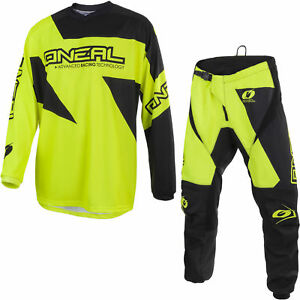 Jersey Neal Suit Off Pantaloni O Motocross Road Oneal Matrix Giallo Bike Track Mx qSvw6Wn