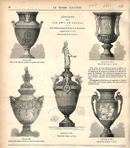 Vases de Sèvres pour le Musée du Louvre & l'Opéra de Paris Garnier GRAVURE 1876 - France - EBay Vases of Svres for the Louvre Museum and the Paris Opera Drawing of Garnier France ANTIQUE PRINTGRAVURE 100 % DÉPOQUE 1876 PORT GRATUIT EUROPE A PARTIR DE 4 OBJETS BUY 4 ITEMS AND EUROPE SHIPPING IS FREE Il s'agit d'un fragment de page orig - France