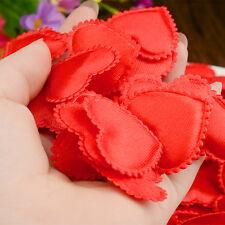 100PCS Love Heart Fabric Petals Wedding Party Festival Flower Decoration Red