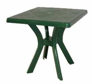 Tavoli Da Giardino In Resina.Tavolo Da Giardino Quadrato 75 X 75 Centimetri In Resina Verde Ebay