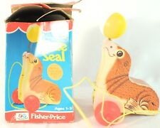 Vintage Fisher Price Suzie Seal Pull Toy w/ Box