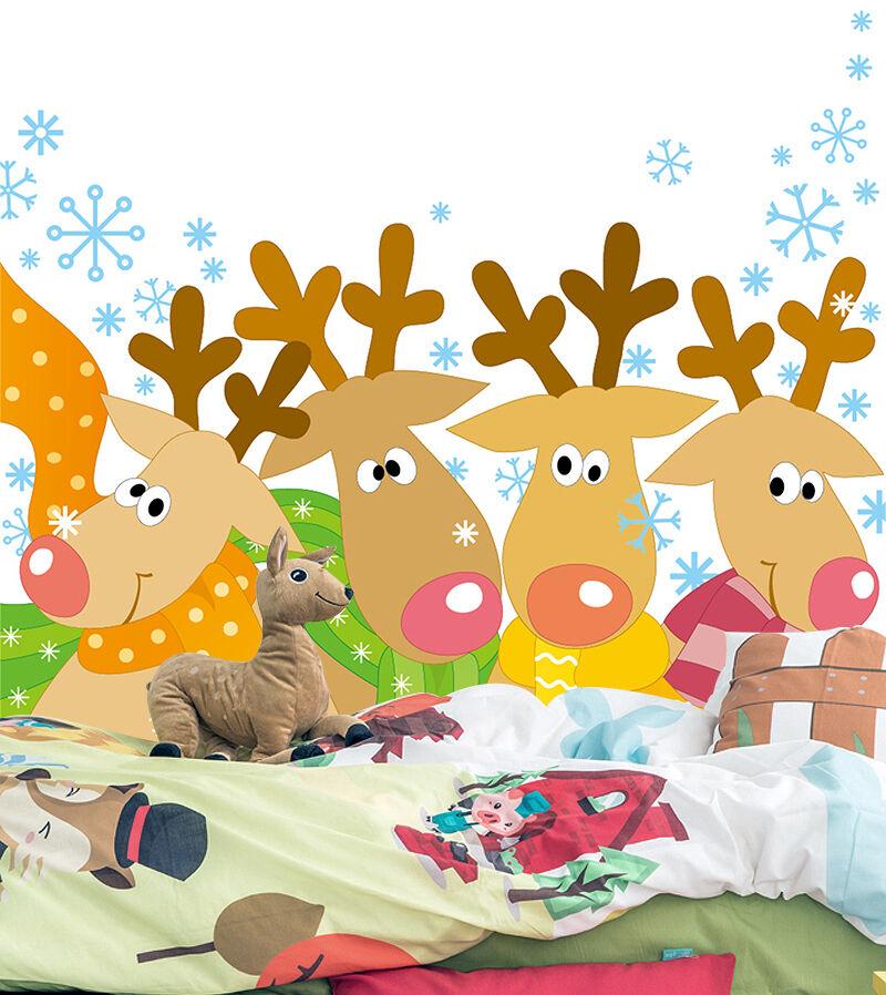 3D Weihnachten Schöne Rentier 23 Fototapeten Wandbild BildTapete Familie DE