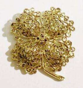 Bijou-Vintage-broche-retro-trefle-4-feuilles-couleur-or-porte-bonheur-3330