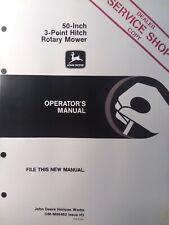 John Deere 430 420 318 Lawn Garden Tractor 50 3 Point Hitch Mower Owners Manual