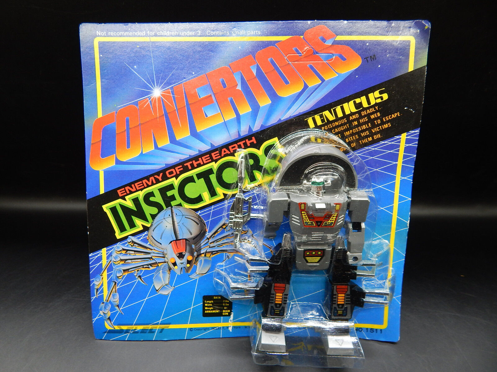 MOC vintage CONverdeORS Insectors sealed 1984 Select robot insecticon TENTICUS
