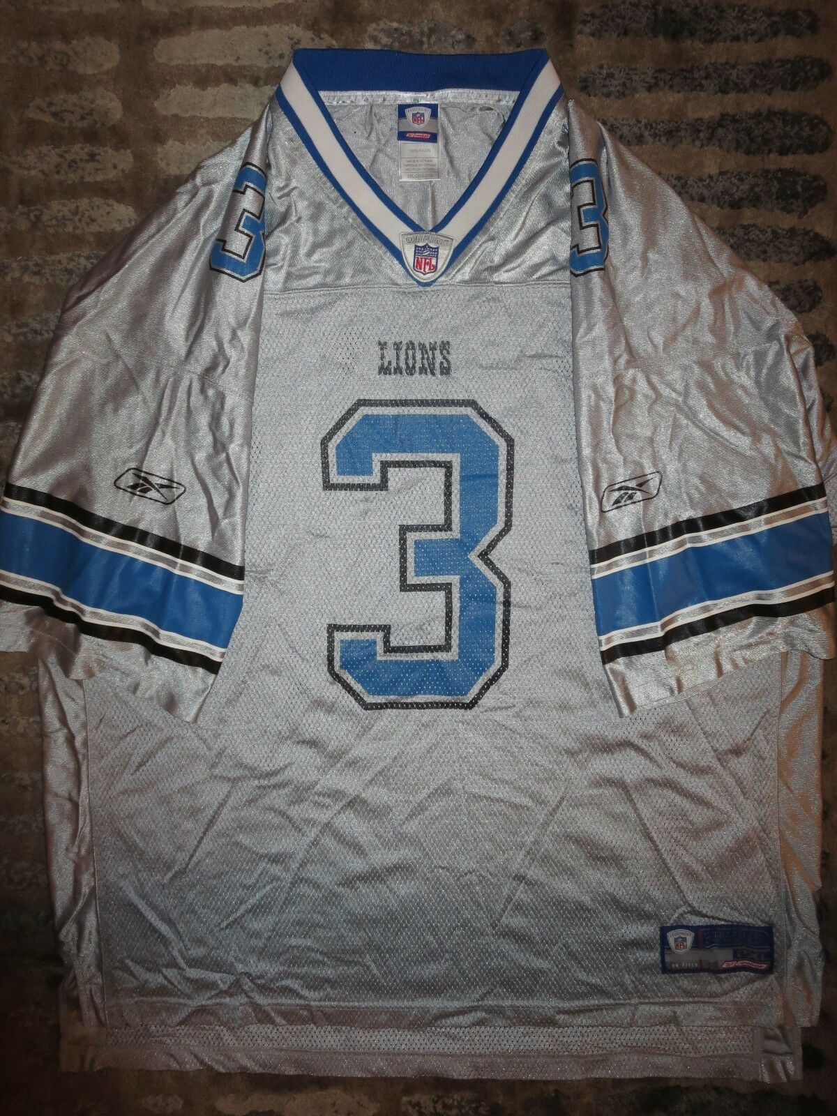 Detroit Lions Lions Lions  3 Joey Harrington NFL Silber Edition Reebok Trikot 2XL ec1cc1