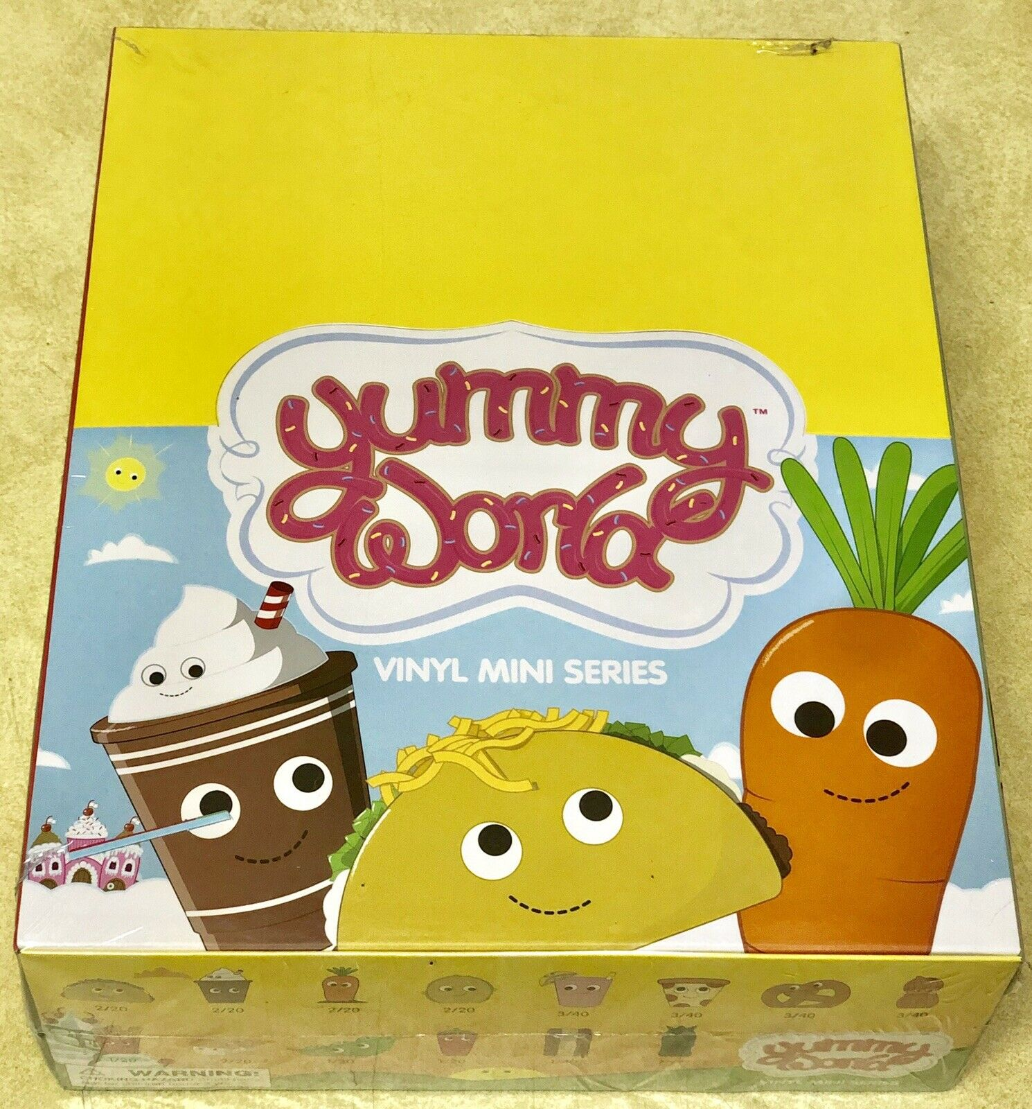 Kidrobot YUMMY WORLD Vinyl Mini Series 1 Sealed Case 20 Blind Boxes Super-Rare