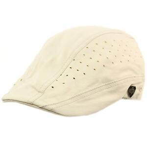 Summer Vented Cotton Duckbill Flat Ivy Driver Cabbie Sun Biker Cap ... d60c0287a893