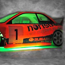 GREEN COLOR LED Stip Tube Light for RC 1/10 Car Chassis Body Lighting Kit NEW
