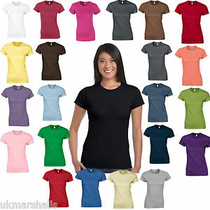 435ef7219b5b09 Image is loading Gildan-SoftStyle-Ladies-Fitted-Ringspun-T-Shirt-25-