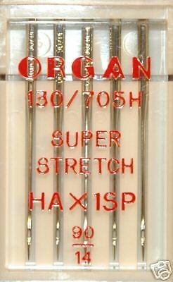HAx1SP Super Stretch Größe 90 blb79 Organ Nähmaschine Nadeln