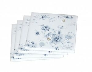 New-4pc-Blue-Meadows-Coaster-Set-Drink-Coasters-Ceremic-Chinaware-Gift-4-039-039