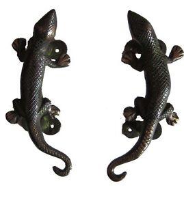 Lizard Brass Door Handle 5.5\