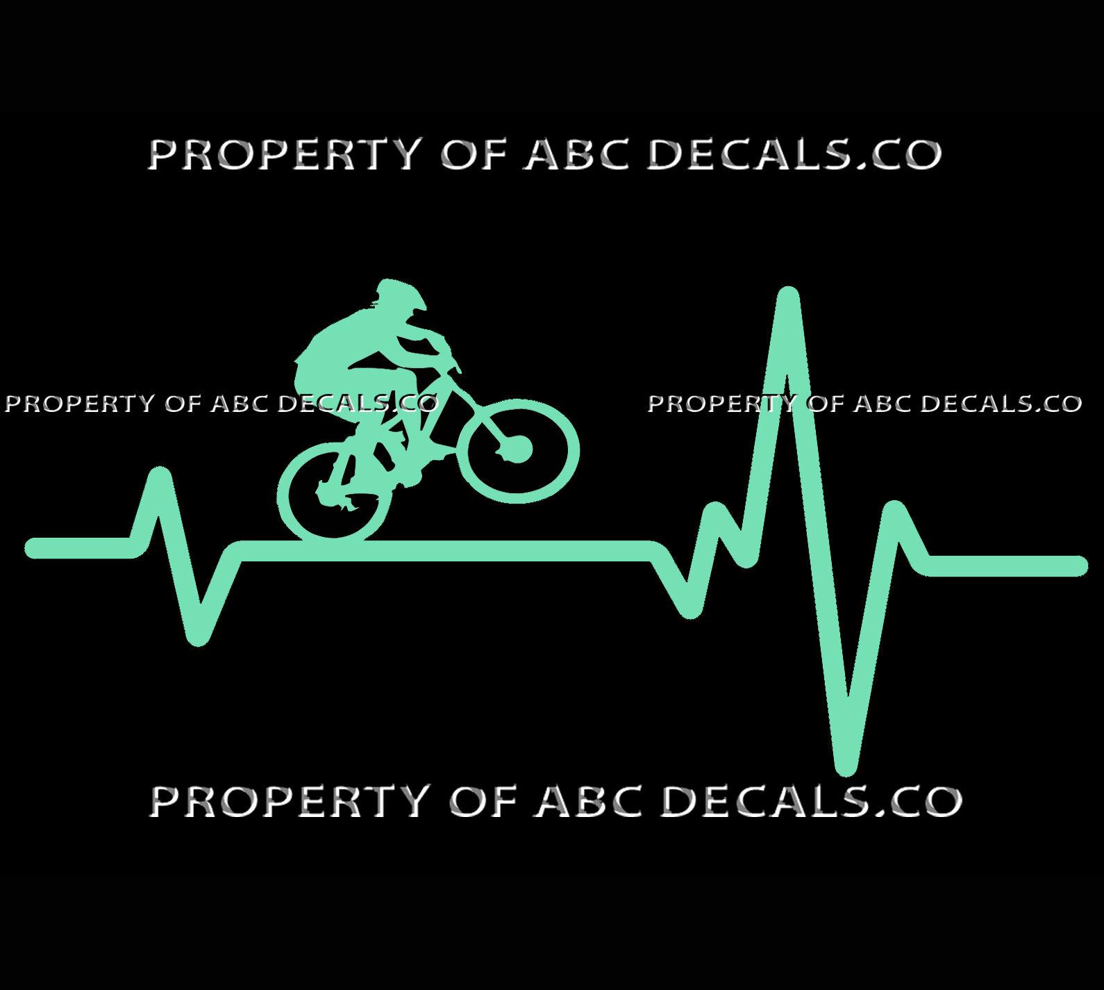 4x Sticker Bike Bike Name Country Framework Mountain Bike Race Helmet Cyclist