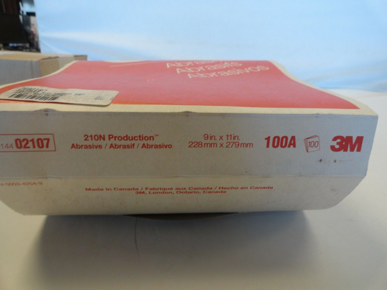 "9/"" x 11/""PRODUCTION PAPER ABRASIVE SHEETS 210N GRADE120-A 3M 02106 DD3731-100"