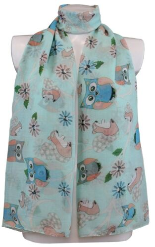 Women/'s Scarves Owl Print Design Soft All Season Lightweight