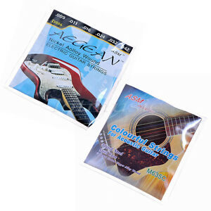 2-Sets-Colorful-Guitar-Strings-For-Electric-Guitar-Nickel-Alloy-Wound