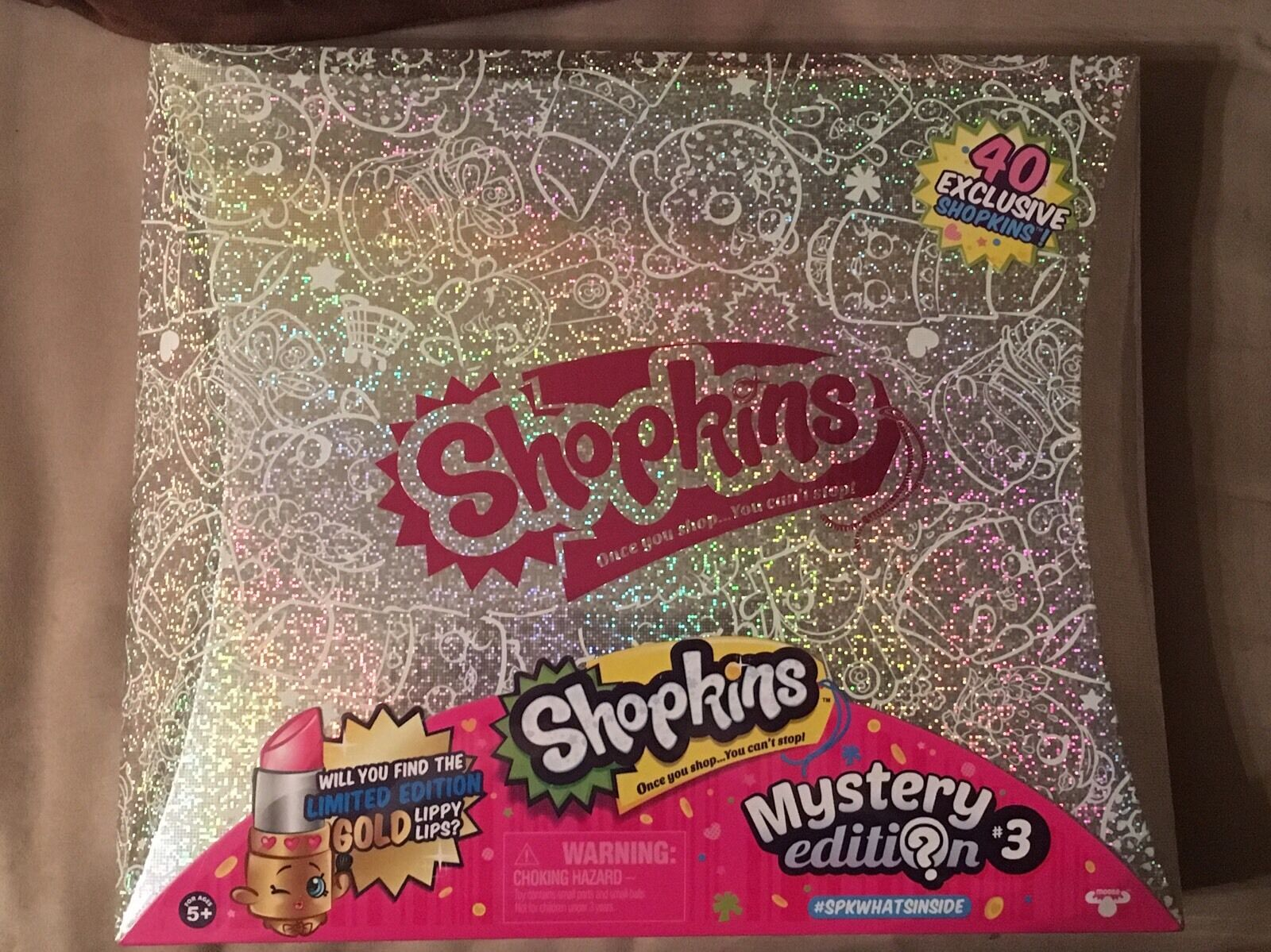 SHOPKINS MYSTERY EDITION 3.0 TARGET EXCLUSIVE 40 SHOPKINS GLITTER BOX BOX BOX NEW HTF b11624