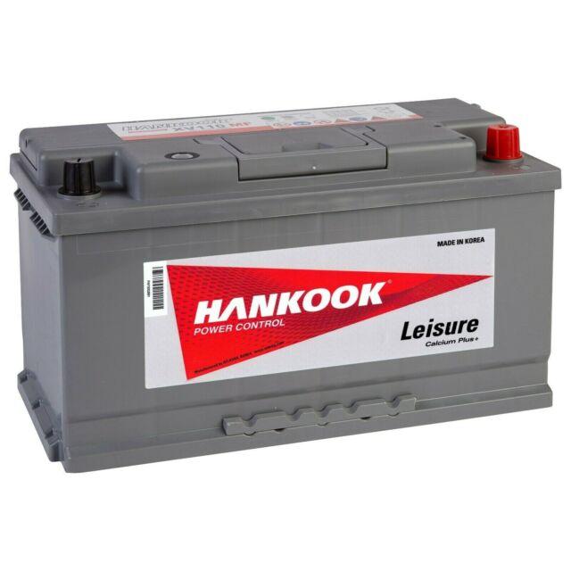 Batterie Hankook XV110 Décharge Lente Autonomie Caravane Camping Car 12V 110AH