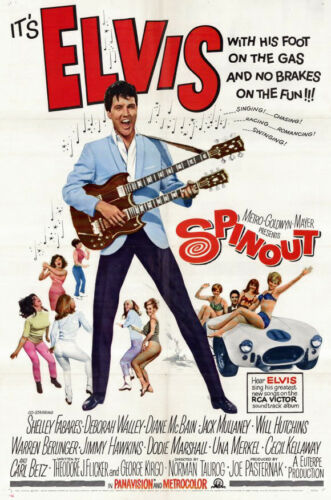 Elvis Presley Musical Comedy Vintage-Style 12x18 Movie Poster 1966 Spinout
