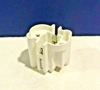 Leviton White Socket For 5W 7W /& 9W Twin Tube Horizontal Snap-In 26719-8 NEW WOW