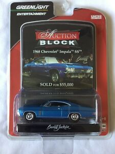 Greenlight-Barrett-Jackson-Auction-Block-68-1968-Chevy-Impala-SS-Diecast-1-64