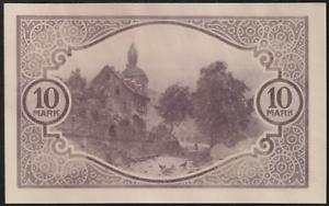 GERMANY-BANK-NOTE-1918-10-MK-NO-FOLD-NO-TEAR-NO-HOLE