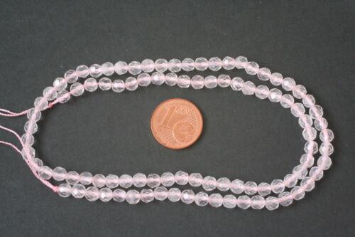 j-0046//j Roses quartz-strang sphère, Fac. 4,5 MM
