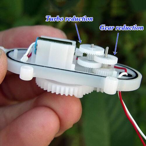 DC 3V 3.7V 24RPM Mini Coreless Worm Gear Motor Gearbox Slow Speed DIY Toy Parts