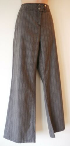12 /& 12 Womens Trousers Size 10 14 Leg 30 32 New Ladies Light Brown Stripe