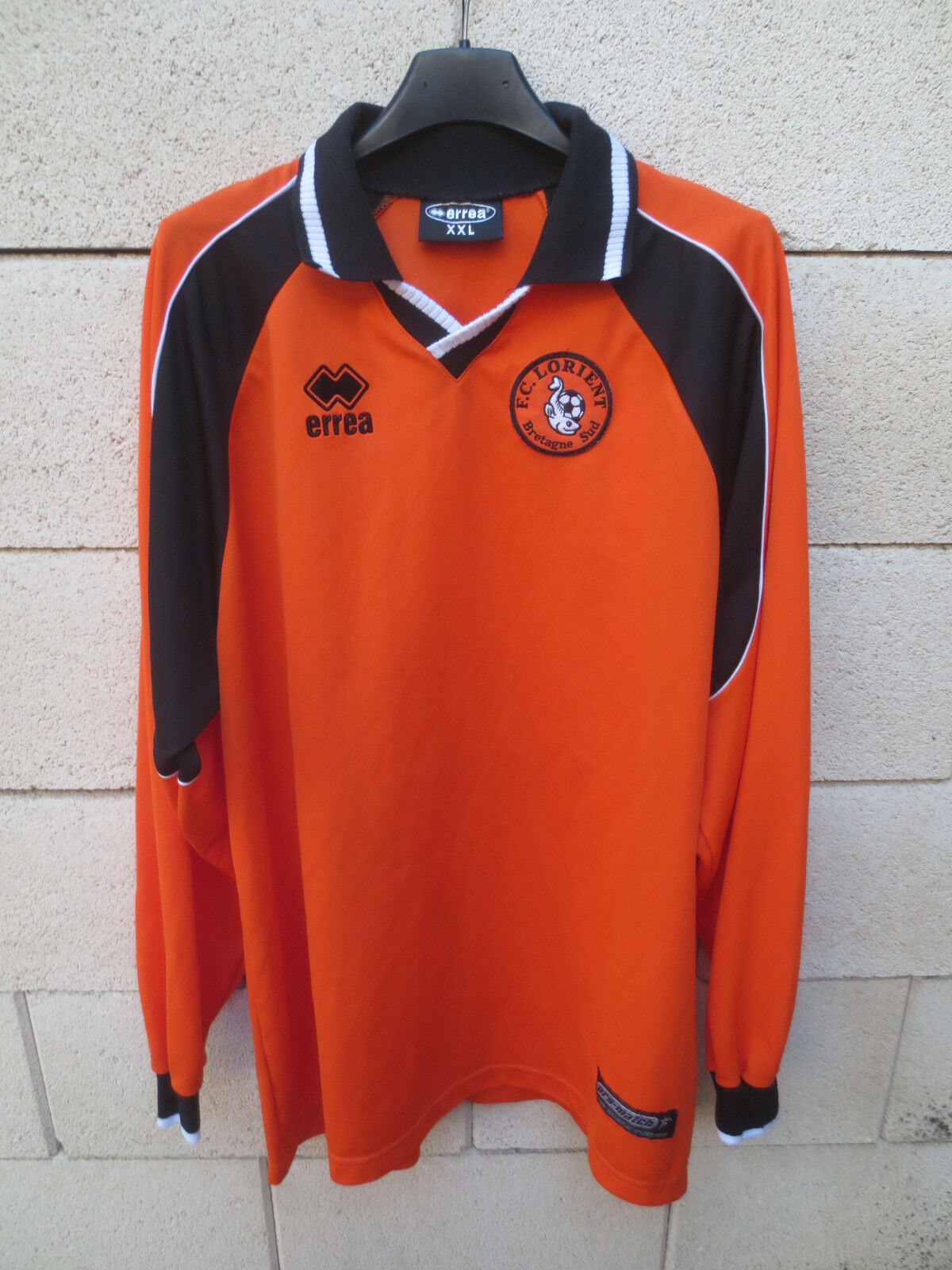 Maillot F.C LORIENT vintage ERREA shirt no sponsor GOURCUFF manches longues XXL